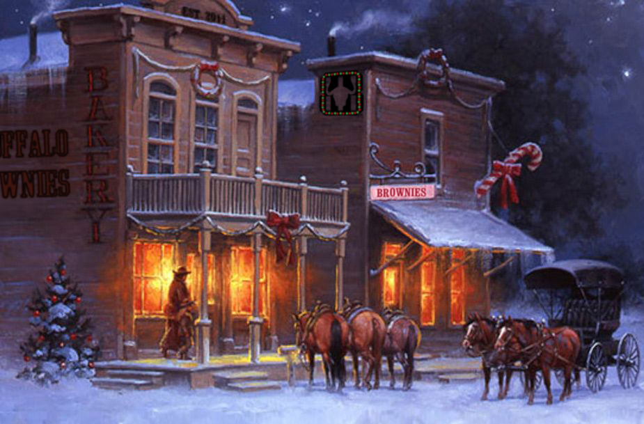 Buffalo Brownies Xmas Scene